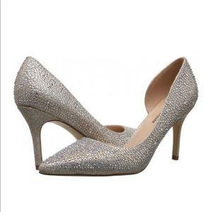 Lauren Lorraine Raquel rhinestones High Heel Shoes